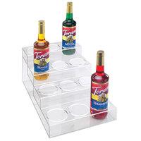 Cal-Mil P297 Clear Acrylic 4 Tier Bottle Organizer- 12 inch x 19 1/2 inch x 8 1/4 inch
