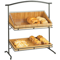 Cal-Mil 1330-12-13 Madera Two Tier Black Iron Stand