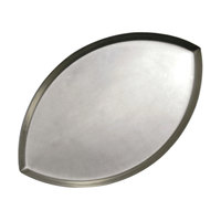 American Metalcraft FBALL1 18 inch x 11 1/4 inch x 5/8 inch Standard Weight Aluminum Football Pizza Pan