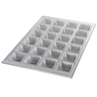 Chicago Metallic 46605 24 Cup Glazed Square Muffin Specialty Pan - 14 1/8 inch x 20 3/4 inch