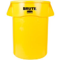 Rubbermaid FG264360YEL BRUTE 44 Gallon Yellow Trash Can