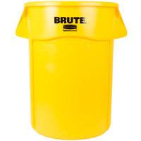 Rubbermaid FG264360YEL BRUTE 44 Gallon Yellow Trash Can