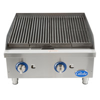 Globe GCB24G-CR 24 inch Gas Charbroiler with Cast Iron Radiants - 80,000 BTU