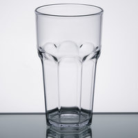 Carlisle 582007 Louis 20 oz. Clear Plastic Tumbler - 24/Case