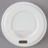 Choice 4 oz. White Hot Paper Cup Travel Lid - 100/Pack