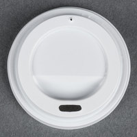 Choice 4 oz. White Hot Paper Cup Travel Lid - 100 / Pack