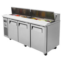 Turbo Air JST-72 72 inch 3 Door Side Mount Compressor Refrigerated Sandwich Prep Table