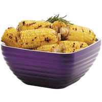 Vollrath 4763465 Double Wall Square Beehive 3.2 Qt. Serving Bowl - Passion Purple