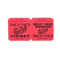 Red 50/50 Marquee Raffle Tickets - 1000/Roll