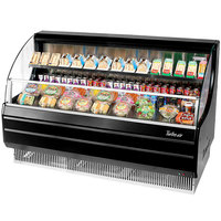 Turbo Air TOM-60LB 63 inch Black Low Profile Horizontal Air Curtain Display Case