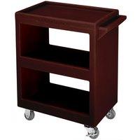 Cambro BC2304S131 Dark Brown Three Shelf Service Cart - 33 1/4 inch x 20 inch x 34 5/8 inch