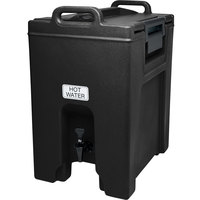 Cambro UC1000110 Ultra Camtainers® 10.5 Gallon Black Insulated Beverage Dispenser