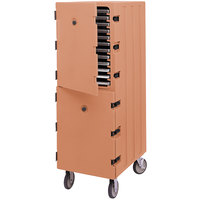 Cambro 1826DTC157 Camcart Coffee Beige Double Compartment Tray and Sheet Pan Carrier