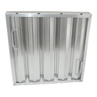 All Points 26-3885 16 inch(H) x 16 inch(W) x 2 inch(T) Stainless Steel Hood Filter - Ridged Baffles
