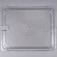 Carlisle 10237U07 StorPlus 1/2 Size Clear Universal Flat Lid with Spoon Notch