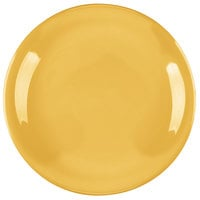 Carlisle 4300622 Durus 7 1/4 inch Honey Yellow Narrow Rim Melamine Plate - 48/Case