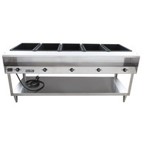 Vollrath 38119 ServeWell Electric Five Pan Hot Food Table 208/240V - Sealed Well