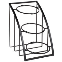 Cal-Mil 1712-8-13 Mission 8 inch Black Round Bowl Display Stand - 10 1/2 inch x 15 1/2 inch x 15 1/2 inch