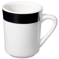 CAC R-17-BLK Rainbow Tierra Coffee Mug 8.5 oz. - Black - 36/Case
