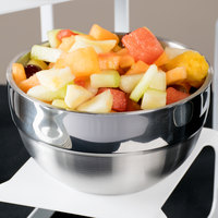 Vollrath 46666 1.7 Qt. Double Wall Stainless Steel Round Satin-Finished Serving Bowl