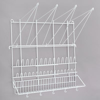 Matfer Bourgeat 169002 19 5/8 inch x 19 5/8 inch Plasticized Wire Pastry Bag and Tip Drying Rack