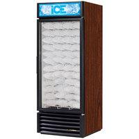 True GDIM-26NT-LD Cherry Tankless Glass Door Ice Merchandiser