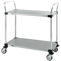 Metro MW108 Super Erecta 24 inch x 36 inch x 39 inch Two Shelf Standard Duty Stainless Steel Utility Cart