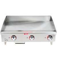 Star Max 536TGF 36 inch Countertop Electric Griddle with Snap Action Thermostatic Controls - 12000W