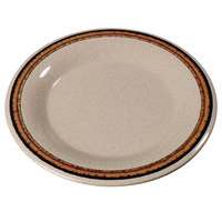 Carlisle 43019908 Mosaic Durus 6 1/2 inch Sierra Sand on Sand Wide Rim Melamine Pie Plate - 48/Case