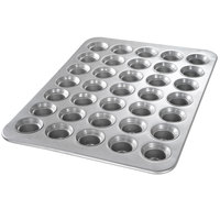 Chicago Metallic 42756 35 Cup 3 oz. Glazed Mini Crown Muffin Pan