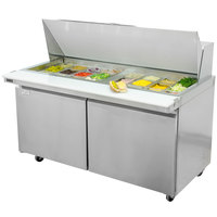 Avantco SCLM2-60 60 inch Mega Top Two Door Sandwich / Salad Prep Refrigerator