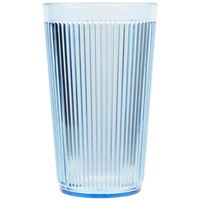Carlisle 401254 12 oz. Blue Crystalon Stack-All SAN Plastic Tumbler - 12/Case