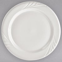 Tuxton YEA-120 Monterey 12 inch Eggshell Embossed Rim China Plate - 12/Case