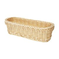 GET WB-1507-N Designer Polyweave 10 inch x 4 3/4 inch x 3 inch Natural Rectangular Plastic Basket