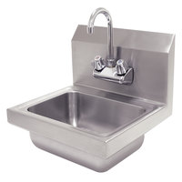 Advance Tabco 7-PS-EC Economy Hand Sink with Splash Mount Faucet - 17 1/4 inch x 15 1/4 inch