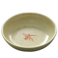 Thunder Group 3955GD Gold Orchid 9 oz. Round Melamine Bowl - 12/Case