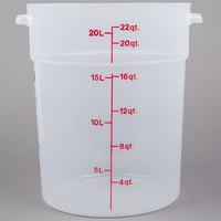 Cambro RFS22PP190 22 Qt. Translucent Round Storage Container