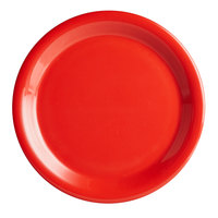 Thunder Group CR109PR 9 inch Pure Red Narrow Rim Melamine Plate   - 12/Pack