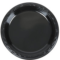 Genpak BLK06 Silhouette 6 inch Black Premium Plastic Plate   - 125/Pack