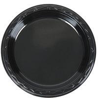 Genpak BLK06 Silhouette 6 inch Black Premium Plastic Plate - 125/Pack