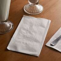 Choice 15 inch x 17 inch 2-Ply White Dinner Napkin - 3000/Case