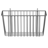 Metro H209-DSH Silver Hammertone Storage Basket for Wire Shelving 13 3/8 inch x 5 inch x 7 inch