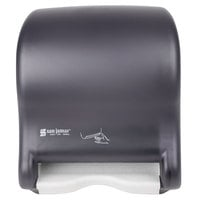 San Jamar T8400TBK Smart Essence Classic Hands Free Paper Towel Dispenser - Black Pearl