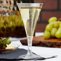 Fineline Tiny Temptations 6414-CL 2 oz. Tiny Barware Clear Plastic 2-Piece Champagne Flute - 120/Case