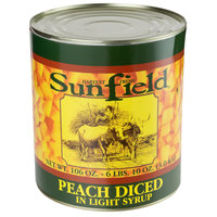 #10 Can Diced Peaches in Light Syrup - 6/Case