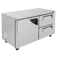 Turbo Air TUR-60SD-D2-N Super Deluxe 60 inch Undercounter Refrigerator with Two Drawers