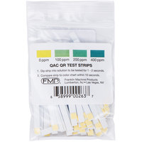 FMP 142-1363 Quaternary Ammonia Sanitizer Test Strip Tape - 100/Bag