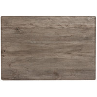 Grosfillex 99851576 X1 32 inch x 48 inch Aged Oak Outdoor Molded Melamine Table Top