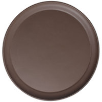 Cambro 1550CT138 Camtread® 16 inch Round Tavern Tan Non-Skid Serving Tray Low Profile - 12/Case