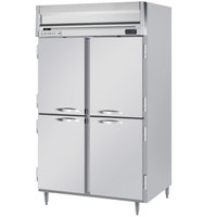 Beverage-Air HRPS2-1HS Horizon Series 52 inch Solid Half Door All Stainless Steel Reach-In Refrigerator
